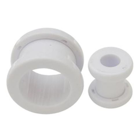 Threaded Flesh Tunnel WHITE