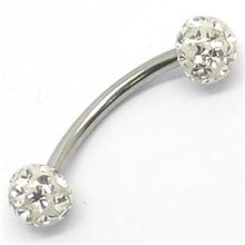 Micro-curved Barbell with multigem balls