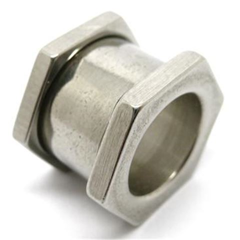 Nut in raw steel and black steel (expander)