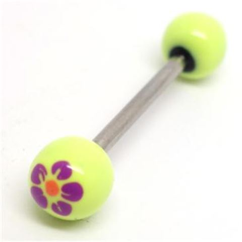 Painted Flowers Barbell