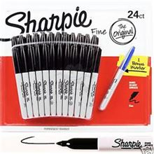 Kit 24 Marcadores negros SHARPIE