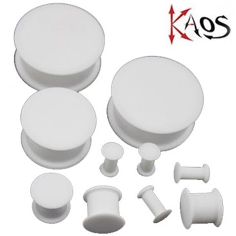 Kaos Hollow Plug. White