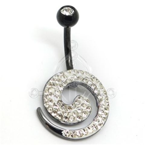 WHITE WHIRL Belly Bar