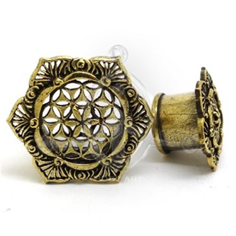 TIBET HEXAGON Ethnic Ear Plug