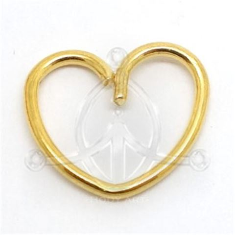 GOLD Clip-On Ring HEART