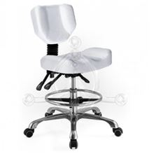 White-Brick rotary stool with backrest