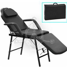 BLACK Folding Armchair-Stretcher