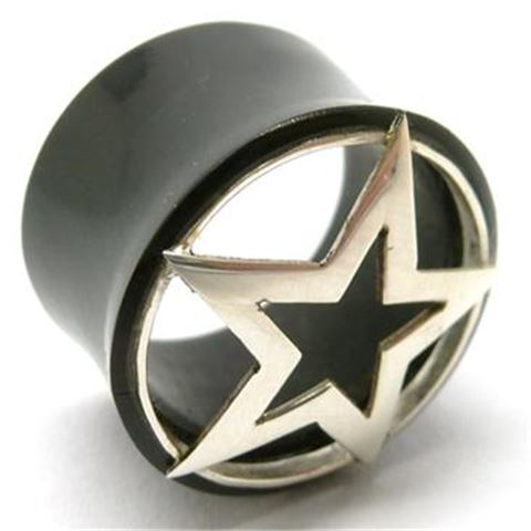Horn Flesh Tunnel with Silver Star